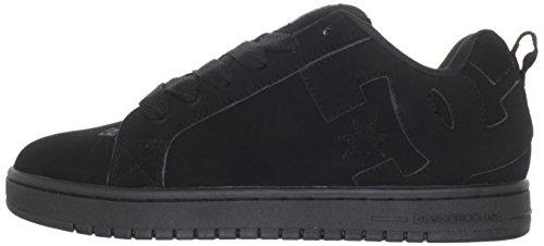 DC Men's Court Graffik Skate Shoe, Black/Black/Black, 11 M US