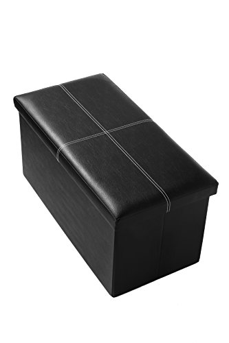 faux-folding-wooden-leather-storage-ottoman-with-contrast-stitch-design-30-x-15-x-15-inches-black