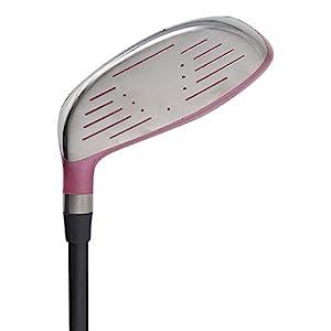 "(Tall 5'8""+) Senior Women's All Pink PGC High MOI 3 Wood Golf Club, Right Handed Premium Ultra Forgiving Senior Ladies Flex Graphite Shaft with Tour Pink Velvet Grip"
