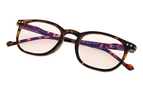 dcd2354a48 Computer Glasses - Blue Light Blocking Glasses - Anti Blue Light Glasses -  Classic Vintage Style Tortoise Frame +1.25
