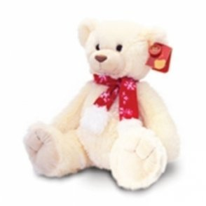 395e81582301 Keel Toys 35cm Charlie Bear w/ Scarf Cream Soft Toy: Amazon.co.uk ...