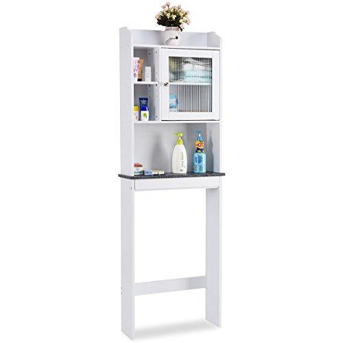 - GJH One Over The Toilet Storage Cabinet Bathroom Space Saver Organizer Bath White