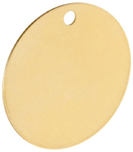 Brady 23211 2'' Diameter B-907 Brass Round Blank Brass Valve Tags (Pack Of 25) by Brady (Image #5)