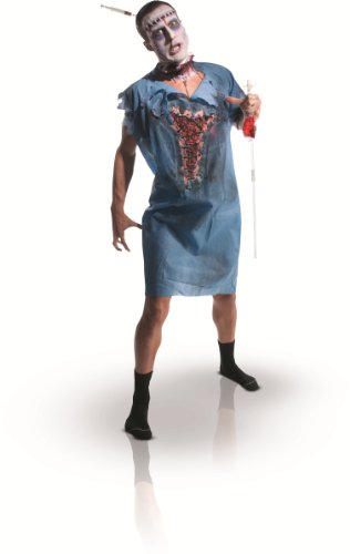 Rubie's Costume Co. Women's Zombie Patient Gown, As Shown, One (Patient Costume)