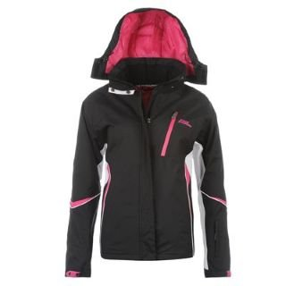 No Fear Ski Jacket Ladies Black/Pink 10 (S): Amazon.co.uk