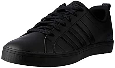 adidas Essentials Mens VS Pace Casual Lace Up Leather Trainers Shoes - 6.5 Black