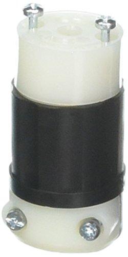 Leviton ML2-C 15 Amp, 125 Volt, Locking Connector, Industrial Grade, Grounding, MiniLock, Black-White ()
