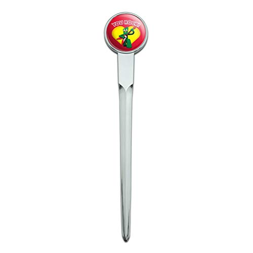 Gumby with Guitar You Rock Heart Classic Chrome Plated Metal Envelope Letter Opener Slitter ()