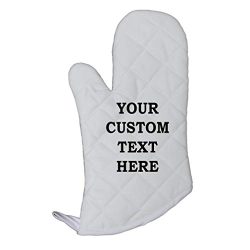 Personalized Oven Mitts - Custom Your Text Here Personalized Lettering Polyester Oven Mitt Kitchen Mittens