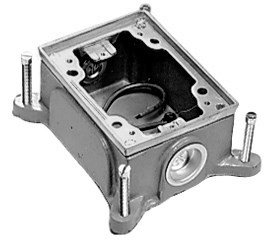 Hubbell Rectangular Floor Box - 6