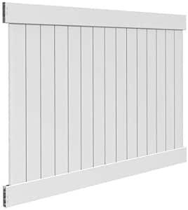 White Vinyl Linden Pro Privacy Fence Panel Kit (Common: 6