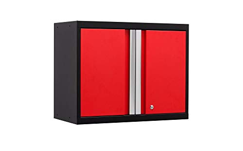 High Professional Series Wall - NewAge Products Pro 3.0 Series Red Wall Cabinet, Garage Cabinet, 52200