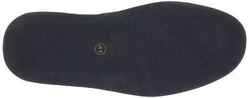 Fortuna Füssen Flex 438004-02 - Zapatillas de casa de cuero para hombre Negro (Schwarz (schwarz 001))