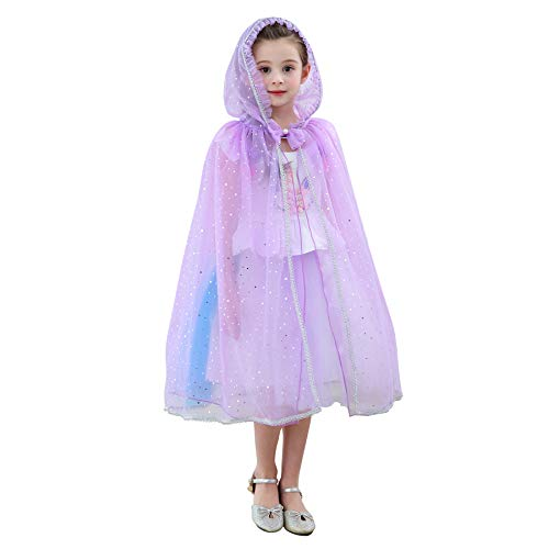 Kokowaii Fancy Girls Hooded Cloak Kids Fancy Costume for Party -