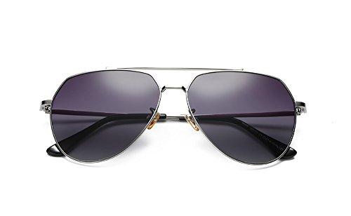 Europa cuadrados y gran Estados sol Hombre sol Unidos Anteojos hombres 2018 tamaño C1 de Gafas gafas de de de de polarizadas de la polarizadas de gradual las los bastidor nuevos gafas Gris WBWrFaT