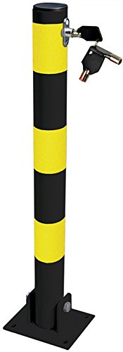 Poteau de s/écurit/é pliable pour domicile//commerce//all/ée//parking avec verrou et boulons MP Essentials