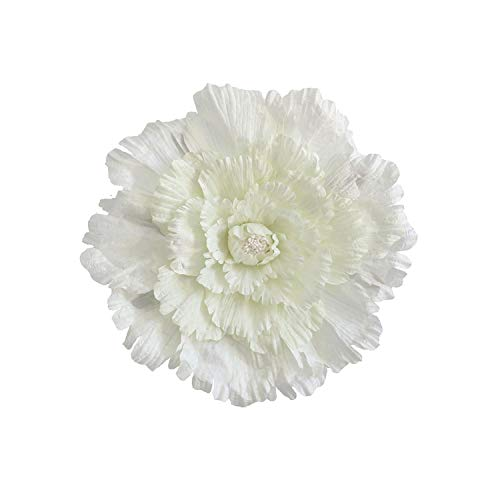 40/50/60/80cm Large Artificial flowersony Wedding Background Decorative Flower Branches Silk Flowers Wall for Home Decoration,Milky White,80cm ()