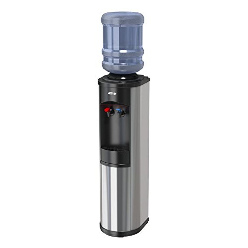 Oasis BTSA1SHS STN w/WTG Artesian Hot 'N Cold Bottled Water Cooler with WaterGuard System, Stainless Steel and (Artesian Bottled Water)