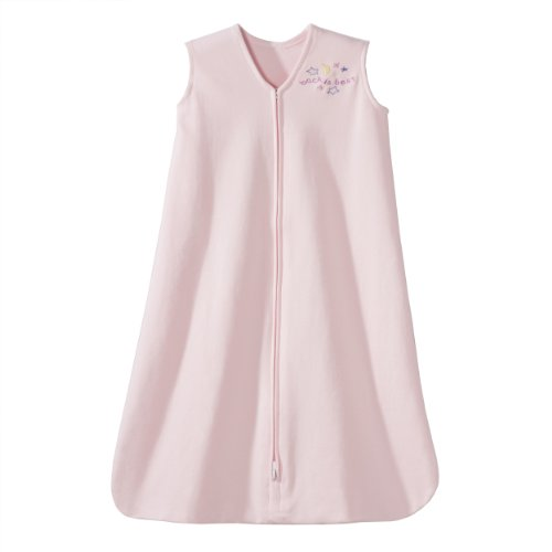 HALO SleepSack 100% Cotton Wearable Blanket, Soft Pink, (100 Cotton Fleece)