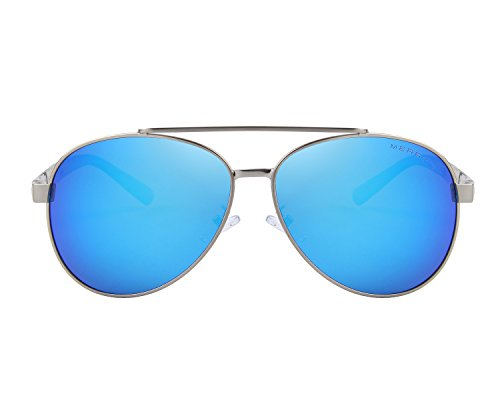 Sunglasses Men Aviator Sun Glasses Blue Color Brand Design - 3