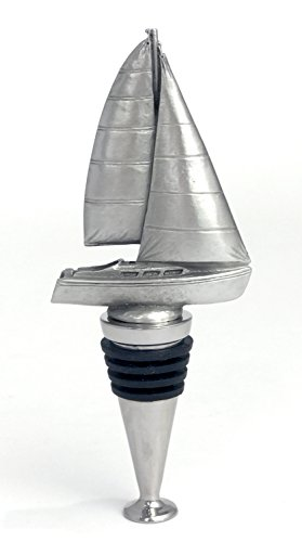 Sailboat Pewter Wine Stopper