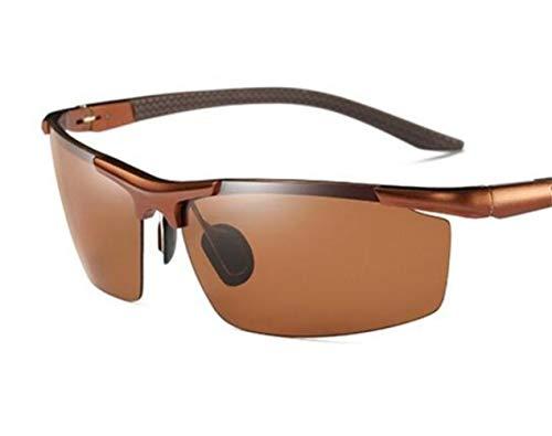 Light ciclismo Brown sol la Brown libre retro hombres de de para de claro de gafas las los de pesca Huyizhi UV400 viajar Guay protección Gafas de al aire de sol del 4tCCaq