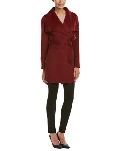 T Tahari Womens Wool-Blend Coat, L, Red
