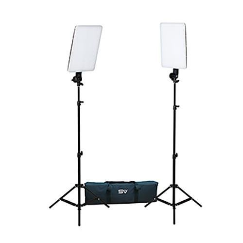 Smith-Victor SlimPanel 800 Watt Daylight LED Two Light Kit with Stands and Bag Smith Victor Soft Light