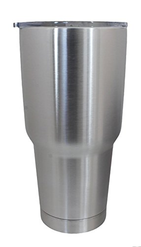 Stainless Steel 30 Oz. Tumbler – Premium Double Wall Vacuum Insulated - Keeps Ice Frozen for DAYS! - Colder Than Competitors even YETI! Because of Food Grade 18/8 Stainless Steel - 30 Oz & Lid