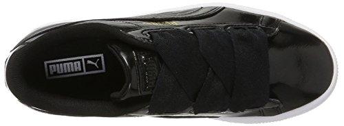 Puma Unisex-Kinder Basket Heart Glam Jr Sneaker Schwarz (Black-Black)