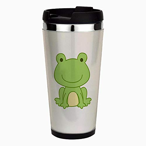 (Laguna Frog - Unique and Funny Stainless Steel Travel Mug, Insulated 16 oz. Coffee Tumbler )