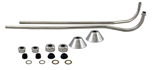 Offset Supply Finish Bath - Westbrass D136-05 Double Offset Bath Supply, Polished Nickel
