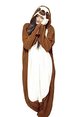 LAYSHOW Adult Unisex Animal Cosplay Pajamas Sloth Costumes Homewear Onesie ()