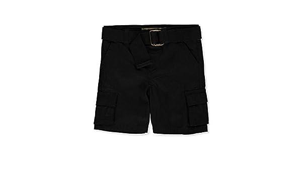 """LR Scoop Baby Boys/' /""""Grid Frame/"""" Belted Cargo Shorts"""
