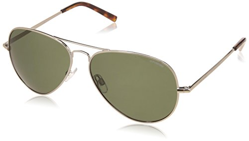 1017/S Sunglasses, Light Gold / Green Polarized, One Size ()