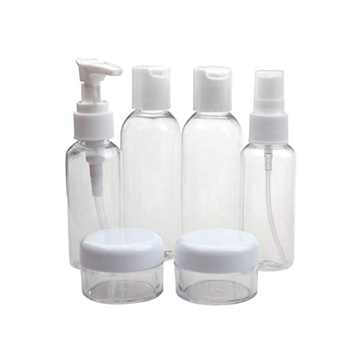 Wall Crema (TreeMart Portable Transparent Travel Cosmetic Bottle Points Bottling Six Sets Mini Cosmetic Empty jar Pot Travel Bottle Vaso Crema)