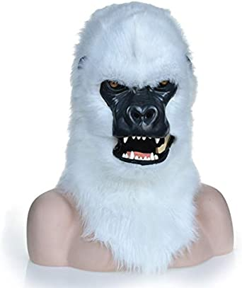 LULI Máscara de bestia de gorila marrón con movimiento de boca ...