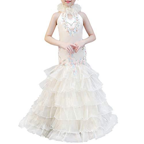 Girls Dress Costumes Fishtail Skirt Slim Princess Dress 3-15 Years Old ()