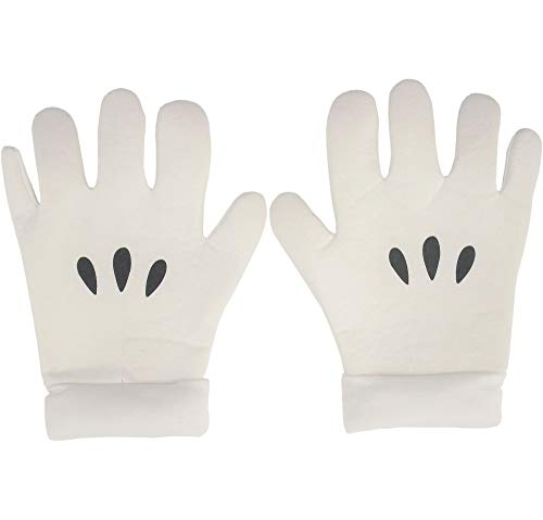 ABG Accessories Super Mario Brothers Mario Gloves for Adults, One Size, Feature 3 Black Dots Just Like Mario's (Wii Games Roleplay)