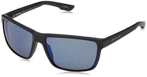 Columbia Men's Zonafied Rectangular Sunglasses, Matte Black, 58 - Sunglasses Columbia