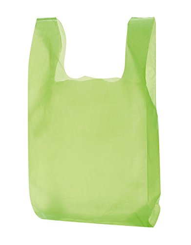 Lime Green Plastic T-Shirt Bags - Case of 1,000 by SSW Basics LLC
