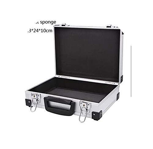 Aluminum Alloy Instrument Repair Camera Photography Tool Holder Storage Case Box Heavy Duty Flight case with Foam Insert,Silver Without Spong
