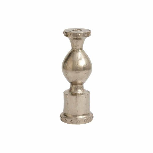 Wood Taper Holder (Dimond Home Small German Silver Baron Candleholder)