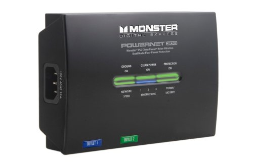 Monster PowerNet 300 Power Line Network Module with Clean Power (Discontinued by Manufacturer) by Monster