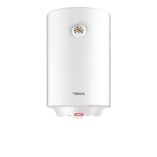 Teka | Termo electrico de 30 litros | EWH 30 C | Consumo medio para 1-2 personas | Tanque esmaltado Zafire | Color Blanco