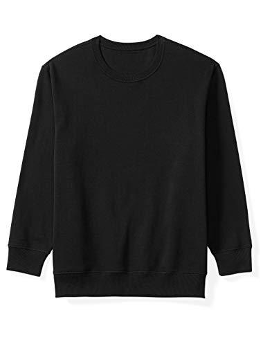 (Amazon Essentials Men's Big and Tall Crewneck Fleece Sweatshirt fit by DXL, Black, 5X)