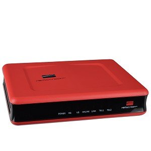 Remstream REM-8200 DOCSIS 2.0 Cable Modem w/Ethernet, USB & 2 VoIP Phone Jacks (Red) ()