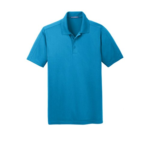 Diamond Jacquard Polo - Port Authority Diamond Jacquard Polo, Blue Wake, X-Large