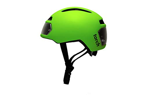 TORCH APPAREL T2 Bike Helmet with Front and Rear LED ()