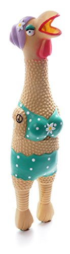 Charming Pet Products Large Grandma Hippie Chick Squeaky Latex Dog Toy -
